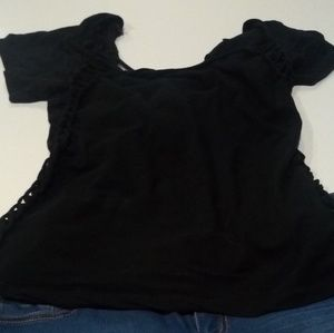 Black stretchy top